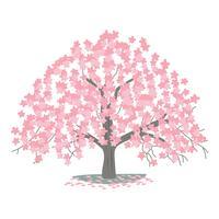 Árvore flor de cerejeira vetor