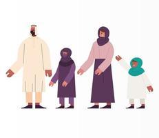 membros da família muçulmana vetor