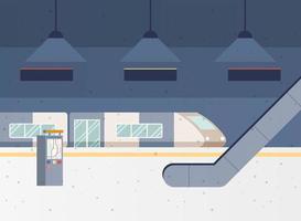 cena da estação de metrô vetor