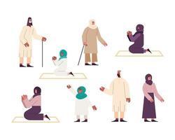 oito muçulmanos vetor