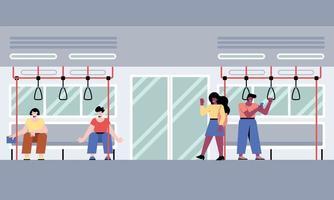 pessoas no metrô vetor