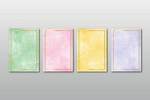 conjunto de aquarela pintada à mão textura de fundo aquarelle abstrato esmeralda pano de fundo modelo horizontal vetor