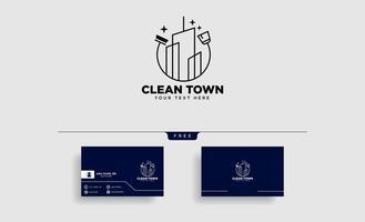 serviço de limpeza cidade ou cidade logotipo modelo ilustração vetorial ícone elemento isolado vetor