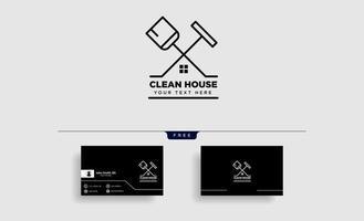 limpeza serviço casa eco logotipo modelo ilustração vetorial ícone elemento isolado vetor