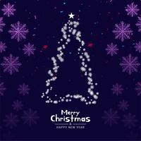 Fundo elegante de feliz Natal abstrata vetor