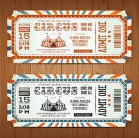 Bilhetes Vintage Retro Circus vetor