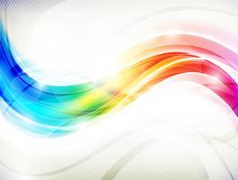 Fundo de onda do arco-íris vetor