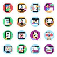 conjunto de marketing na web vetor