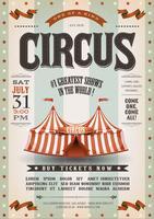 Cartaz de circo do grunge vintage vetor