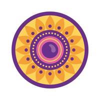 celebração raksha bandhan feliz com estilo plano de moldura circular vetor