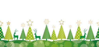 Fundo de floresta sem emenda de Natal.