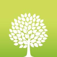 Ilustração em vetor árvore Primavera.