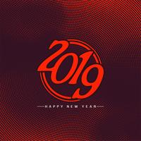 Feliz ano novo 2019 elegante fundo de saudação vetor