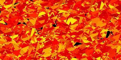 fundo laranja claro com triângulos vetor