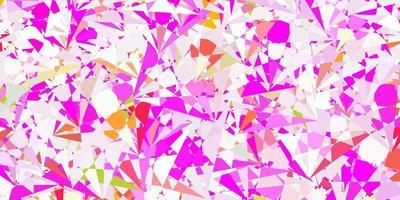 modelo de vetor rosa claro com formas triangulares