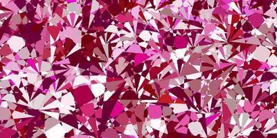 fundo vector rosa claro com formas poligonais