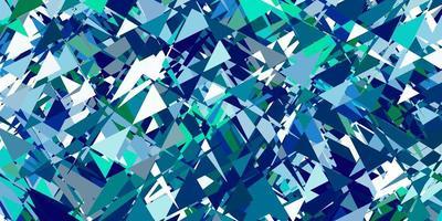 padrão de vetor azul claro verde com estilo poligonal