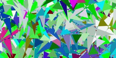 modelo de vetor multicolor leve com formas de triângulo