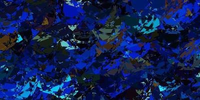 pano de fundo escuro multicolorido com linhas de triângulos vetor