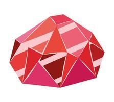 ícone de rubi vermelho vetor