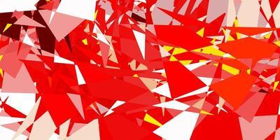 modelo de vetor laranja claro com formas de triângulo