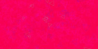 textura vetorial rosa escuro com triângulos aleatórios vetor