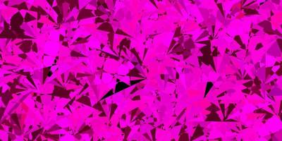 layout de vetor rosa escuro com formas triangulares