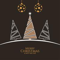 Fundo decorativo elegante de feliz Natal abstrata vetor