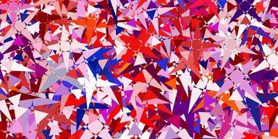 textura leve multicolorida com triângulos aleatórios vetor