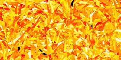 modelo de vetor laranja escuro com triângulos de cristais