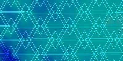 padrão de vetor azul claro com linhas e triângulos
