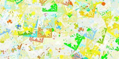 fundo de vetor multicolorido claro com triângulos