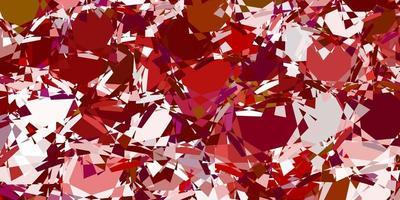 fundo de vetor multicolorido claro com formas poligonais