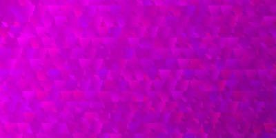 padrão de vetor roxo claro com estilo poligonal