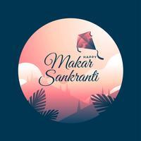 Modelo de saudação de Makar Sankranti vetor