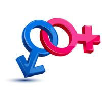 Símbolo de sexo feminino masculino