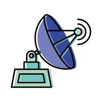 desenho de vetor de ícone de antena isolado