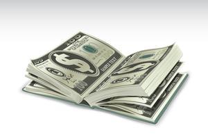 Livro do dólar vetor