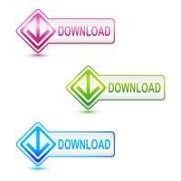Botão de download vetor