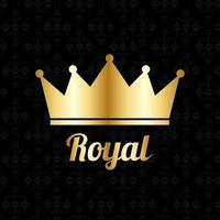 fundo real de luxo vintage de coroa de ouro. ilustração vetorial vetor