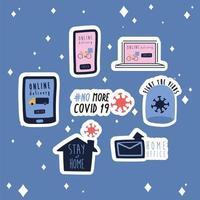pacote de nova campanha de letras de normas definir ícones de estilo simples vetor