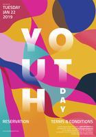 Design de vetor do dia mundial da juventude