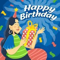 celebração de presente de aniversário vetor