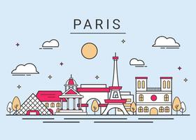 Vetor de skyline de cidade de paris