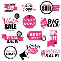 Coleção de adesivos de venda
