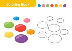 livro de colorir para crianças, vetor oval