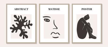 moderno contemporâneo abstrato matisse composição de mulher geométrica vetor