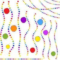 conjunto de guirlandas coloridas planas isoladas redondo. adequado para design. vetor