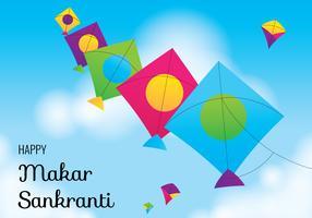Festival de papagaios de Makar Sankranti vetor
