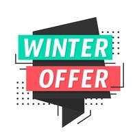 Oferta de inverno vetor